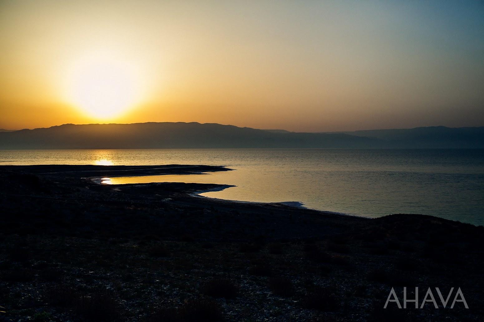 Dead Sea Waters in Evening Sun