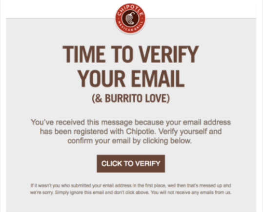 chipotle email screenshot