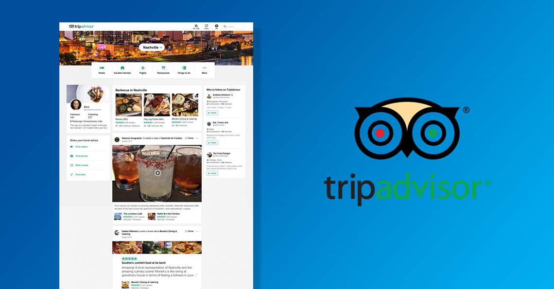 TripAdvisor travel news feed