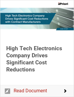 High Tech Electronics Company Drives Significant Cost Reductions