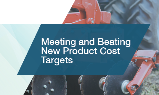 Meeting and Beating Cost Targets