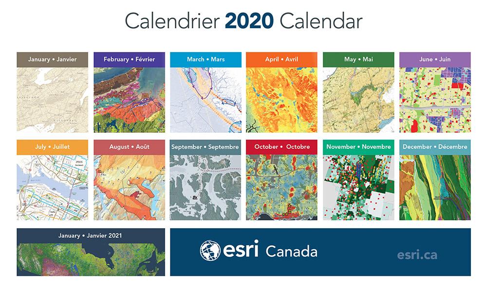 2020 Esri Canada Map Calendar
