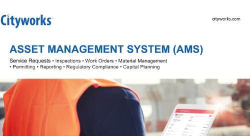 Cityworks AMS (Asset Management System)