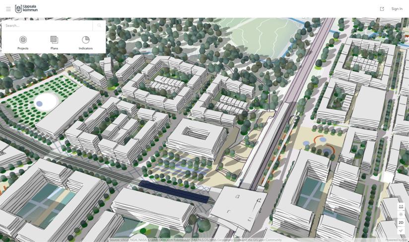 Modèle 3D interactif d'Uppsala