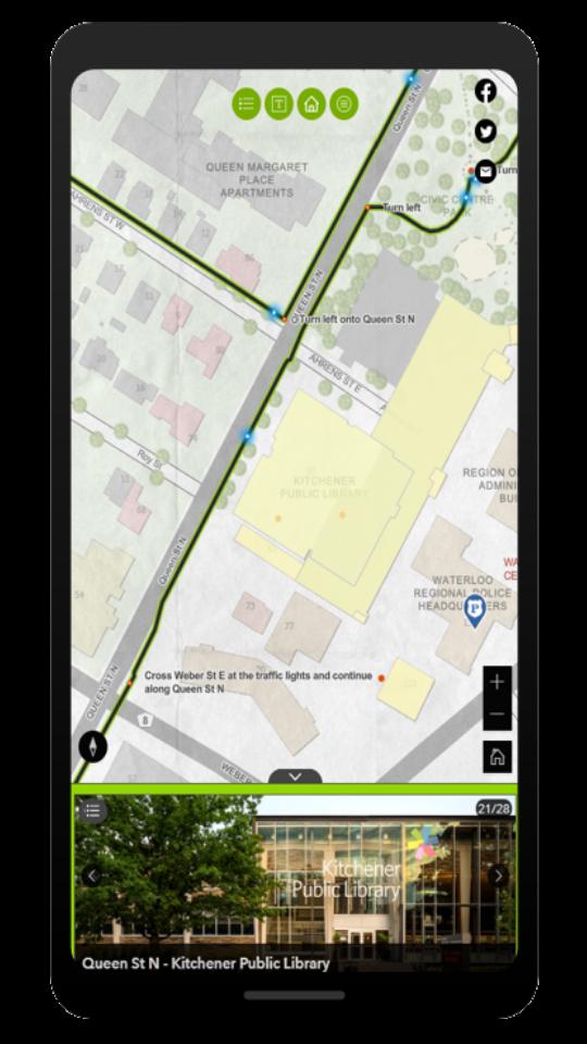 Une vue de l'application sur un appareil mobile, comme un iPhone.