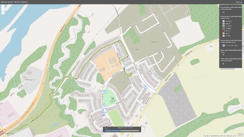 Screenshot of an ArcGIS Mission map