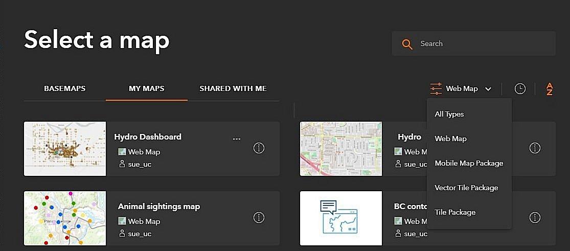 Exemple de la façon de changer la carte utilisée dans votre projet QuickCapture par un autre fond de carte, carte web ou paquetage de carte.