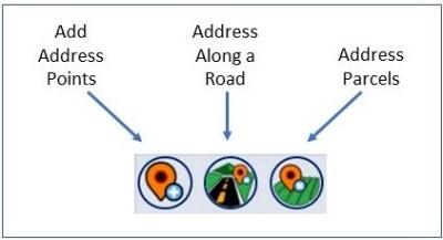 Capture d'écran des options de saisie d'adresses dans l'application web Address Manager