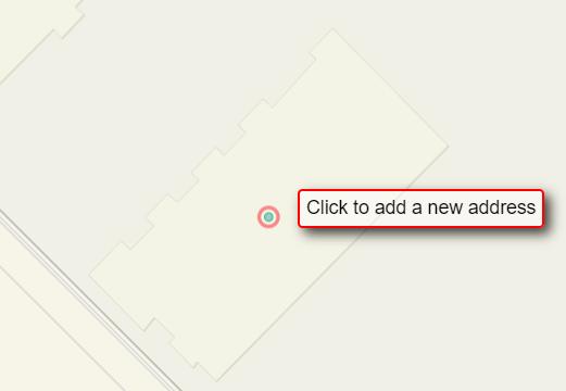 Capture d'écran de l'outil « Add Address Points » (ajouter des points d'adresse)