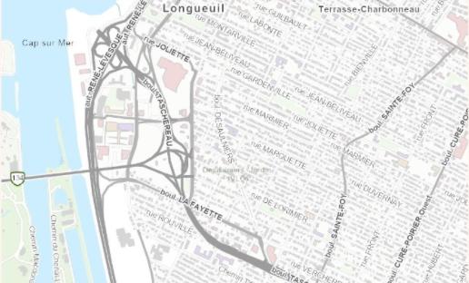 Capture d'écran du style du mois « Lightweight » (léger) pour la carte communautaire du Canada
