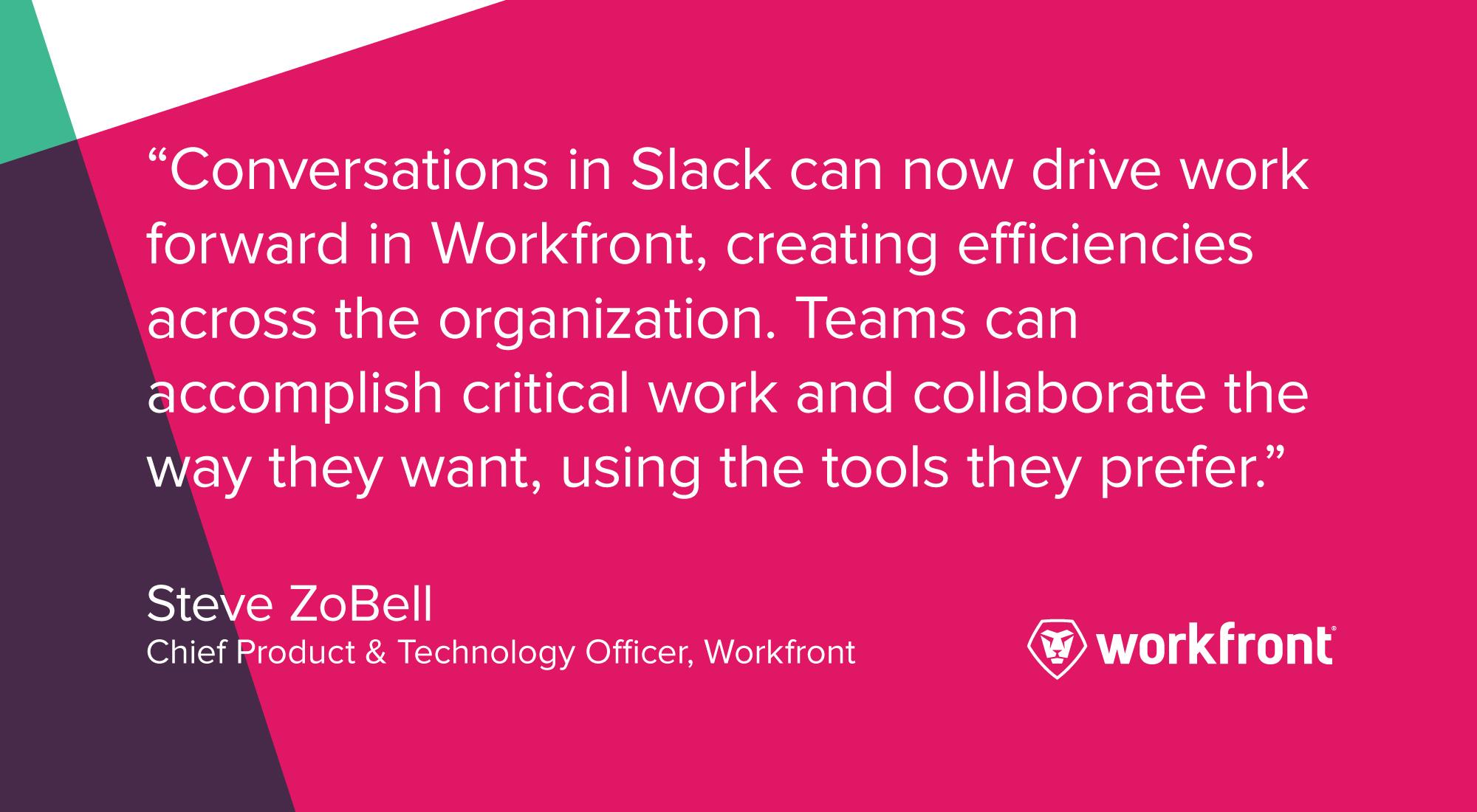 workfront product release slack