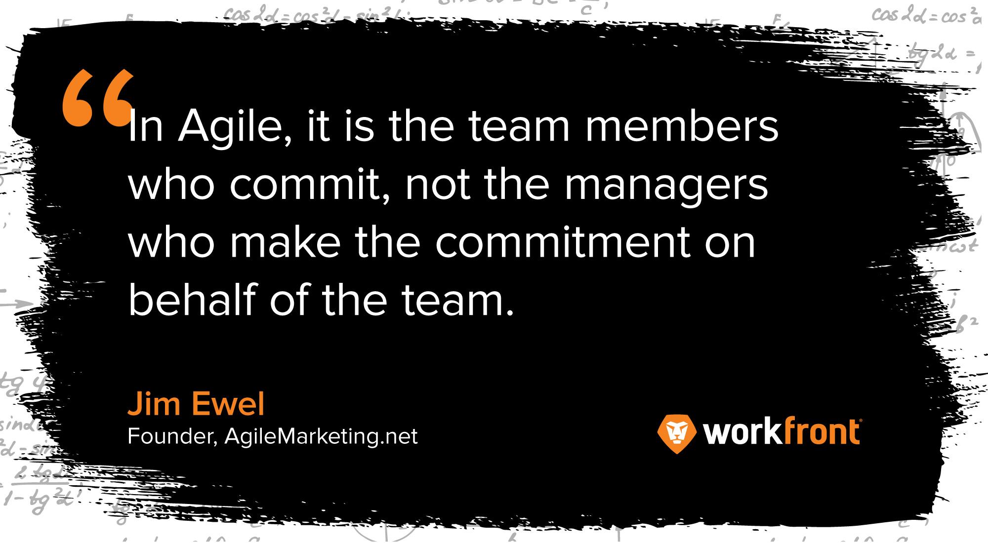 agile marketing quote jim ewel