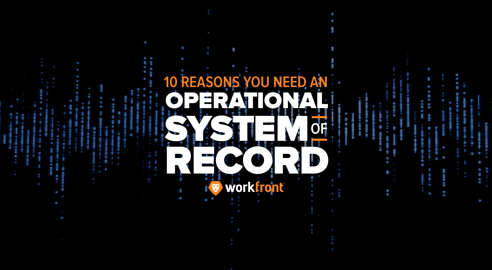 why operational system of record