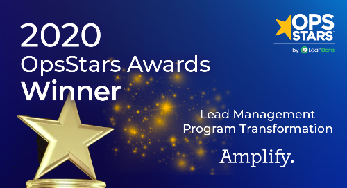 Lead Management Program Transformation of the Year