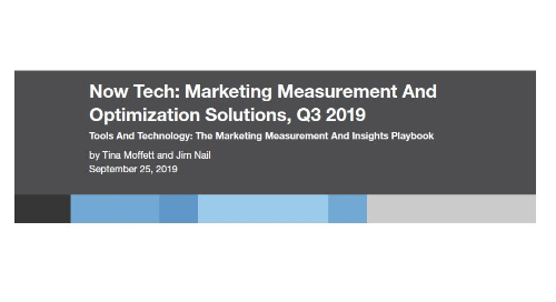 Now Tech: Marketing Measurement - Forrester Report