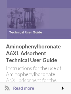 Aminophenylboronate A6XL Adsorbent Technical User Guide