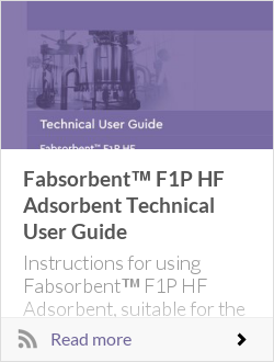 Fabsorbent™ F1P HF Adsorbent Technical User Guide