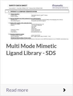 Mulit Mode Mimetic Ligand Library PC2250 SDS Issue 2