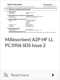 MAbsorbent A2P HF LL PC3906 SDS Issue 2