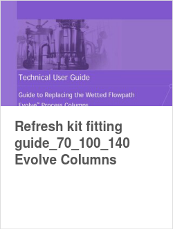 Refresh kit fitting guide_70_100_140 Evolve Columns