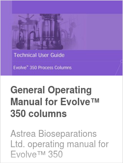 General Operating Manual for Evolve™ 350 columns