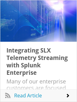 Integrating SLX Telemetry Streaming with Splunk Enterprise