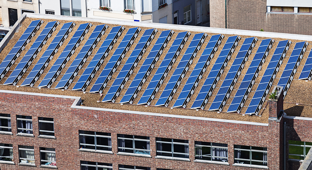 Commercial solar panel costs for a rooftop installation can be less expensive than other options