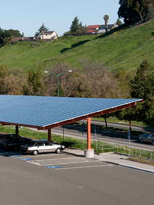 Carports are a commercial installation option offered by some solar power companies