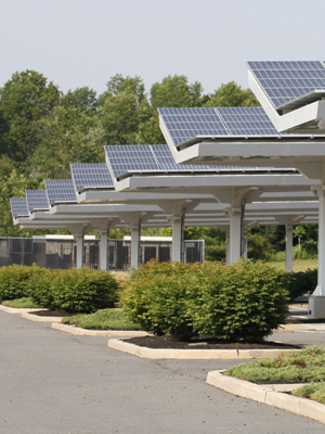 Solar carport installation made possible by commercial solar financing