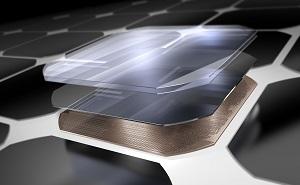 vista esplosa di una cella solare