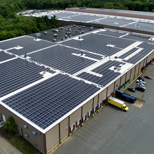 Rooftop installation represents a large commercial solar investment