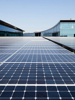 Solar panel array generates renewable energy