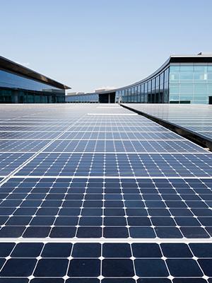 Solar panel array generates renewable energy