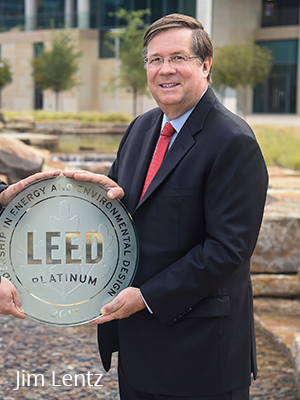 Jim Lentz accepts LEED Platinum plaque