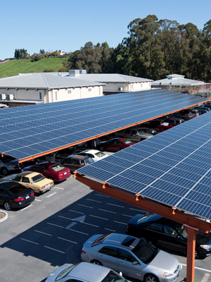 Commercial solar carports