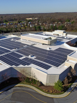 Rooftop installation of solar power for business