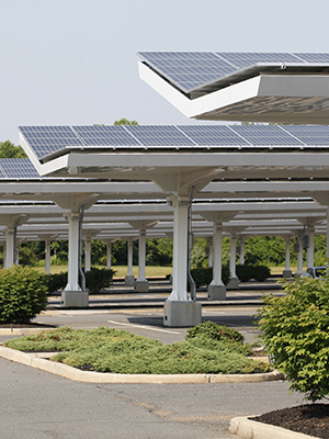 Completed solar carport installation is a result of proper planning for solar power