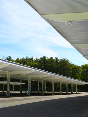 Carport installation supported by solar power incentives
