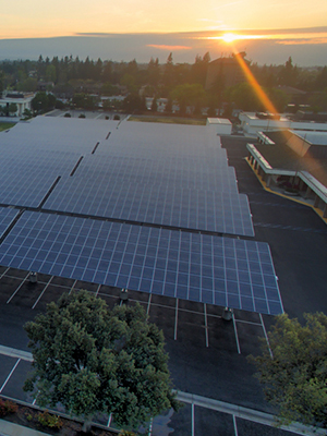 Solar carport financed by a commercial solar lease