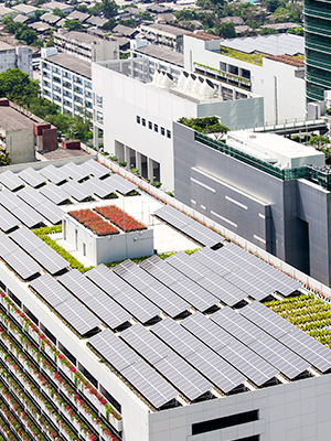Rooftop community shared solar installation