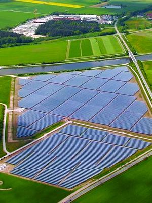 Rural shared solar community installation