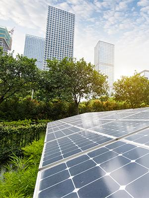 Urban community solar installation
