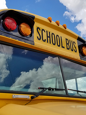 Electric buses are one way how to reduce your carbon footprint at school