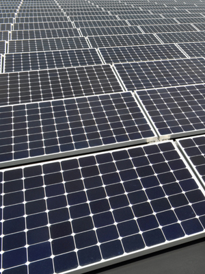 Commercial solar array protected by a solar panel warranty