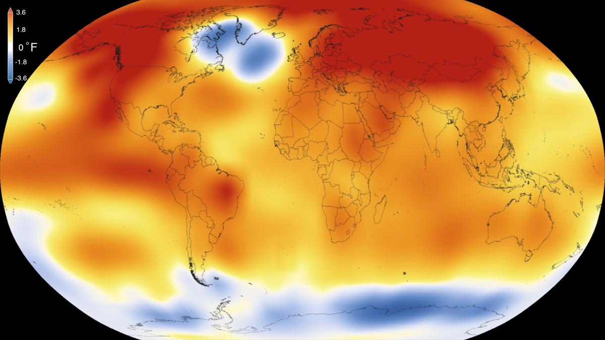 mappa del calore del mondo