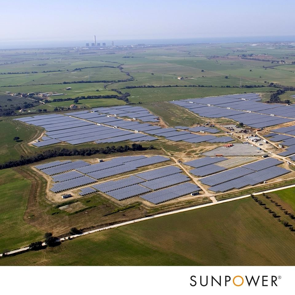 vista aerea dell'azienda agricola del pannello solare