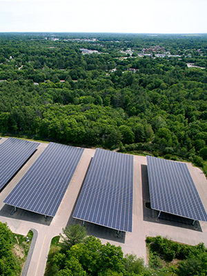 Solar canopy systems are a great way to take advantage of the Massachusetts SMART solar program