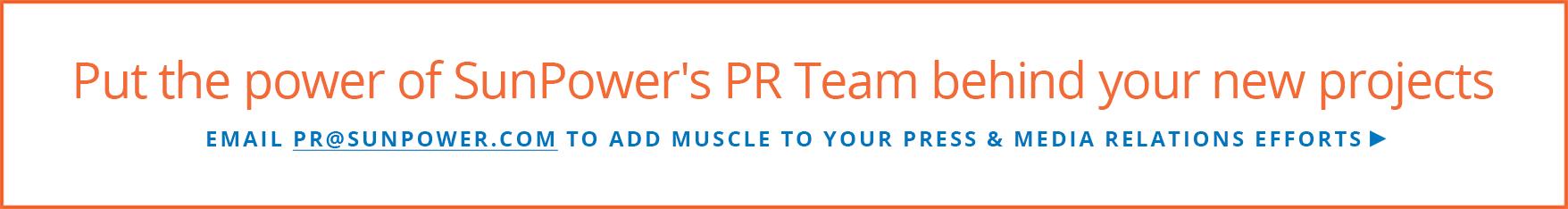 Email PR@sunpower.com banner ad
