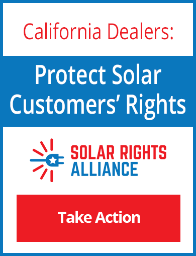 Ad linking to the Solar Bill of Rights