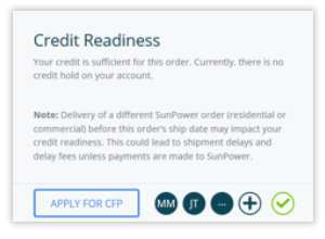 Credit Readiness screen grab